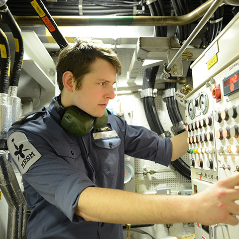 Engineering Technician Marine Engineering Submariner in the Royal Navy at work