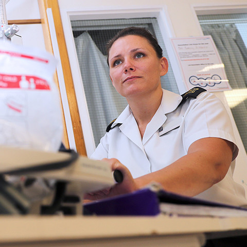 Royal Navy Naval Nurse qualified