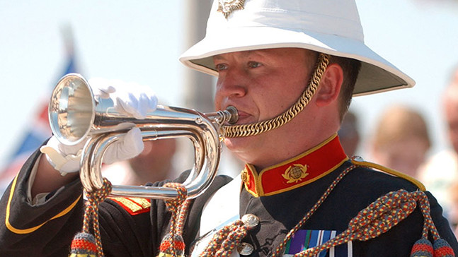 A Royal Marine Bugler.