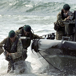 marines in the sea
