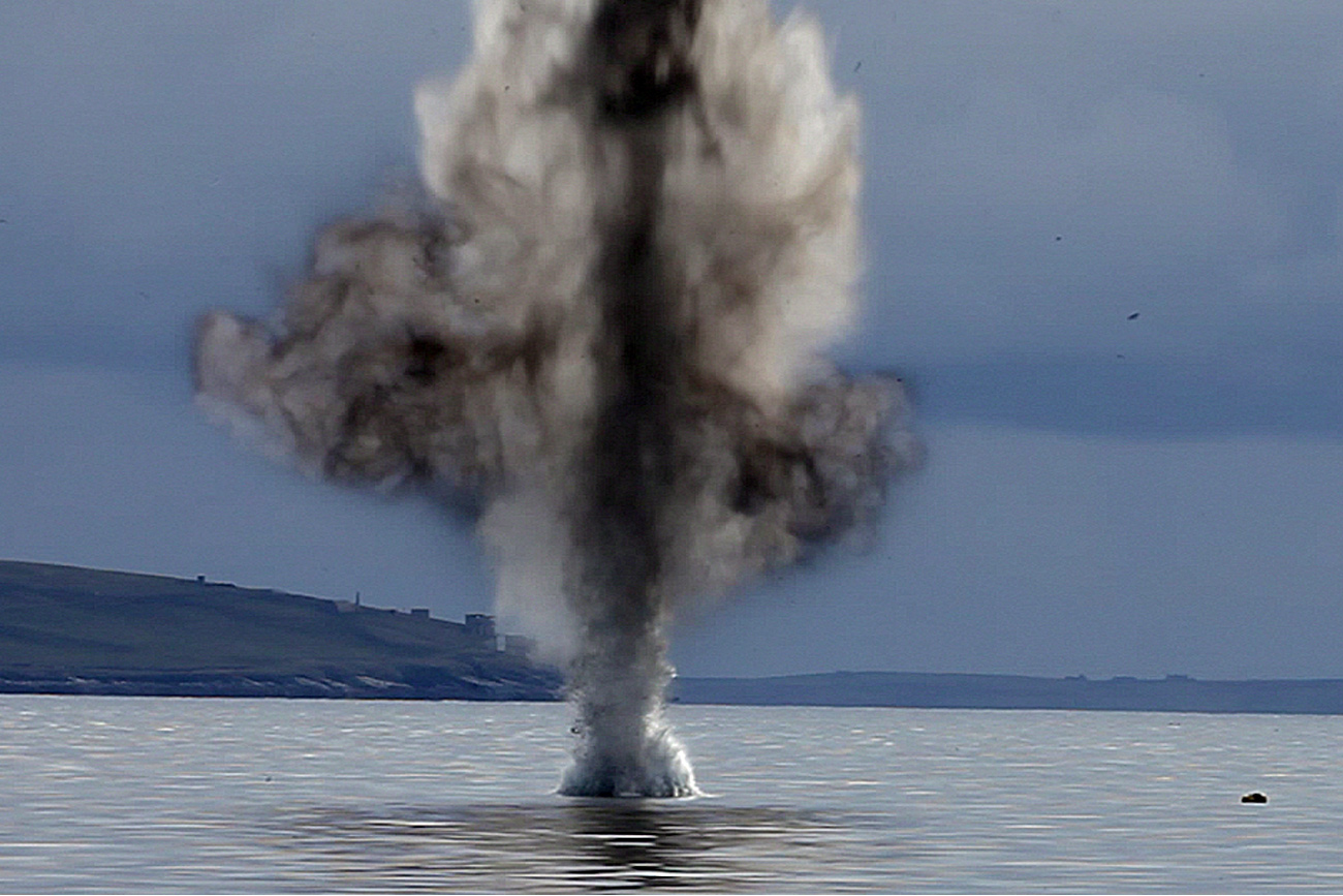 Navy divers destroy WWII torpedo in Orkney