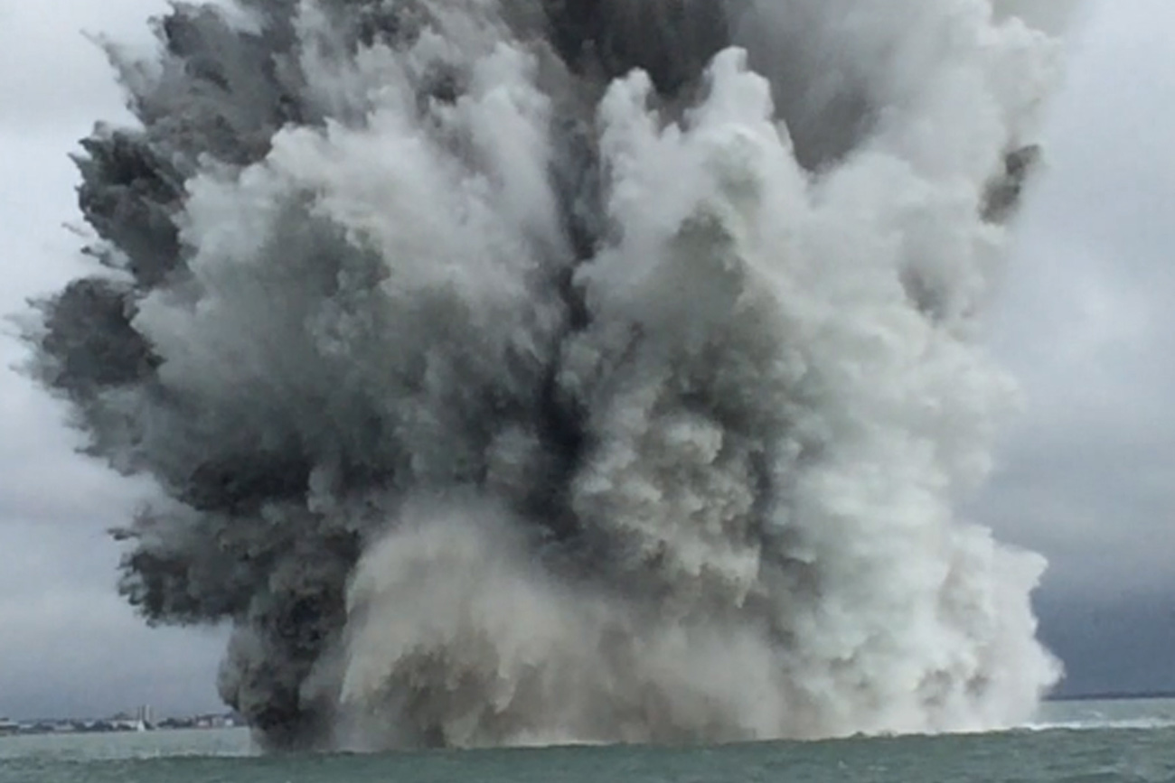 Royal Navy destroys huge World War Two mine