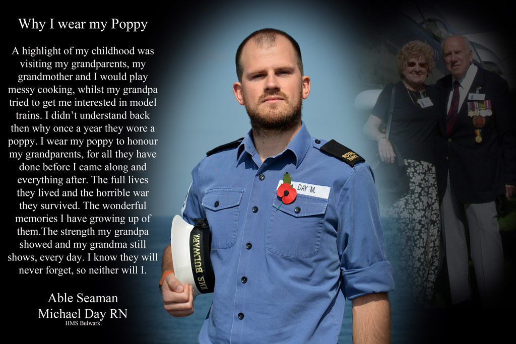 Why we wear our poppies – by Royal Naval personnel | Royal Navy