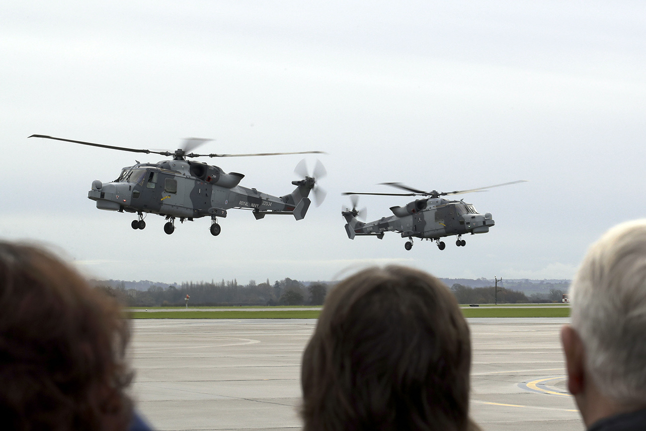Wildcat helicopter home after hurricane disaster relief mission