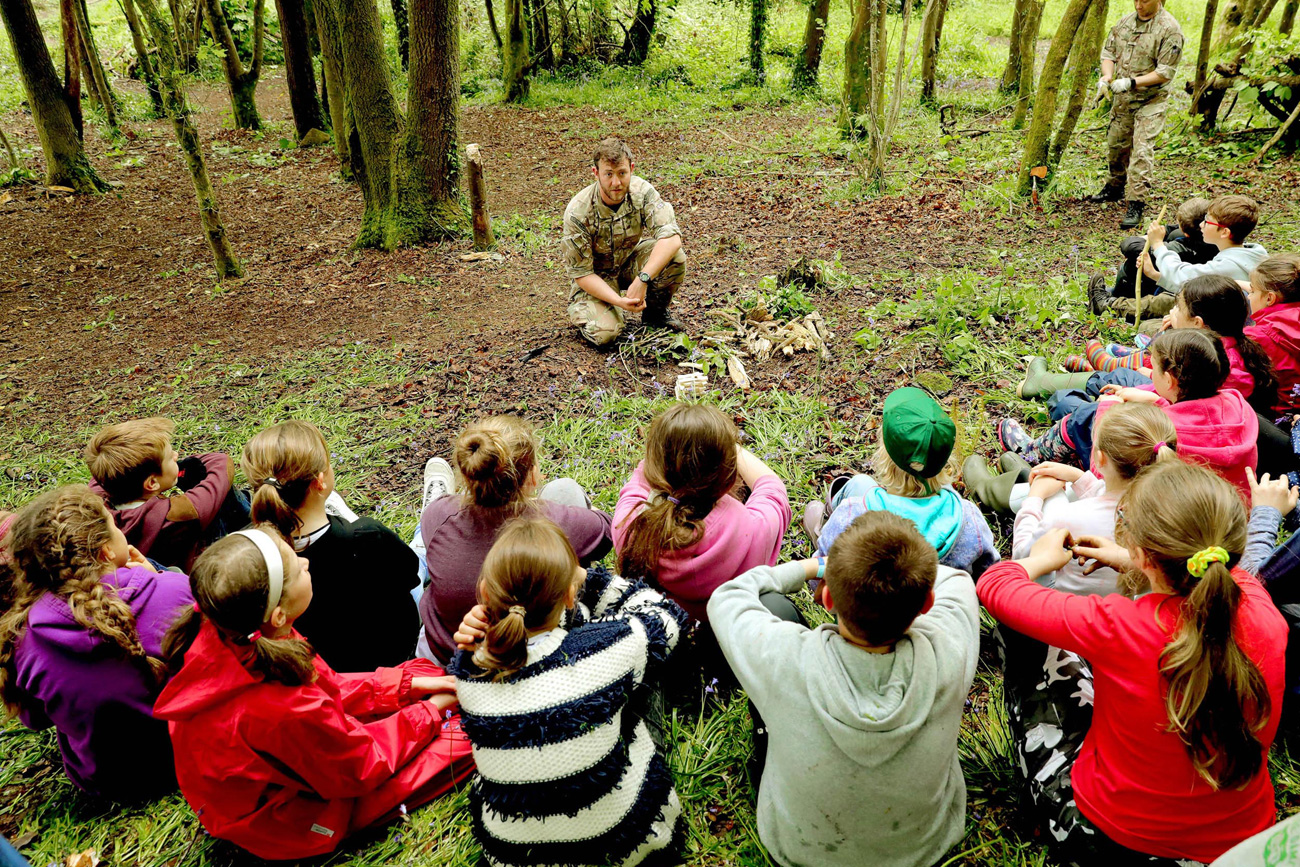 Helston schoolchildren learn basic survival skills