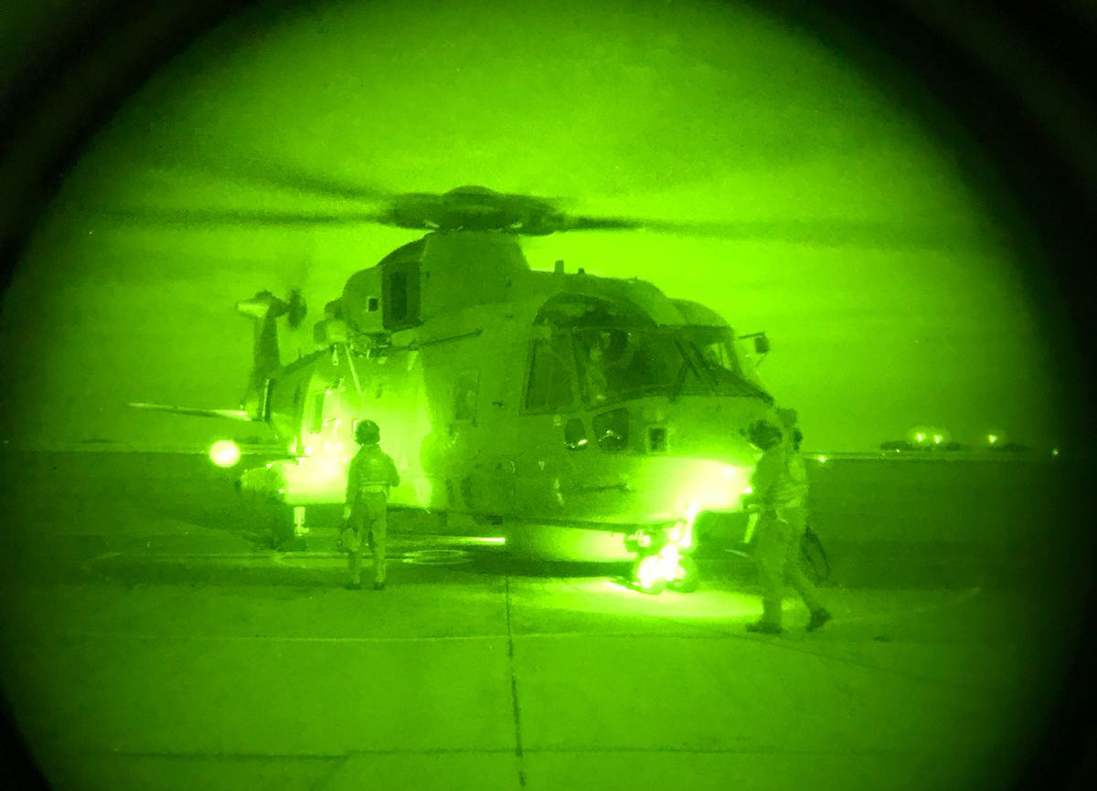 Helicopter squadron prepares for carrier operations day or night