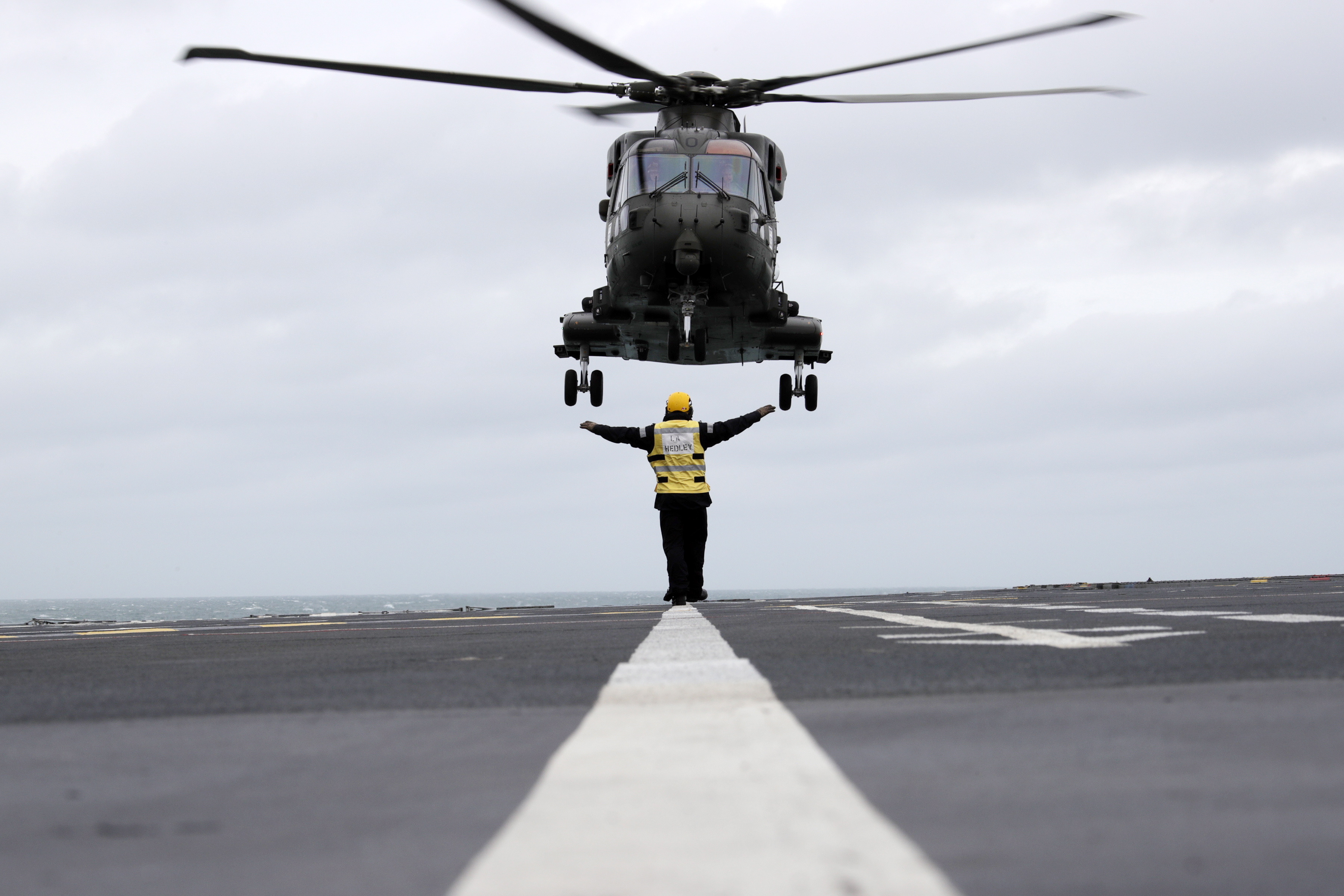 846 Naval Air Squadron have been training on RFA Argus. Picture: POPhot Des Wade