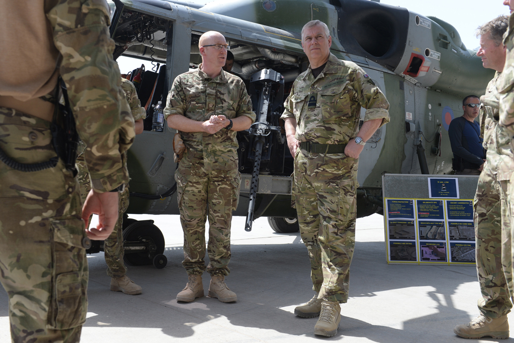The Duke of York has travelled to Afghanistan where he met with personnel from all three services