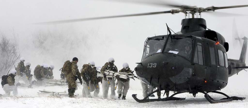 45 Commando Royal Marines and 845 Naval Air Squadron in Norway