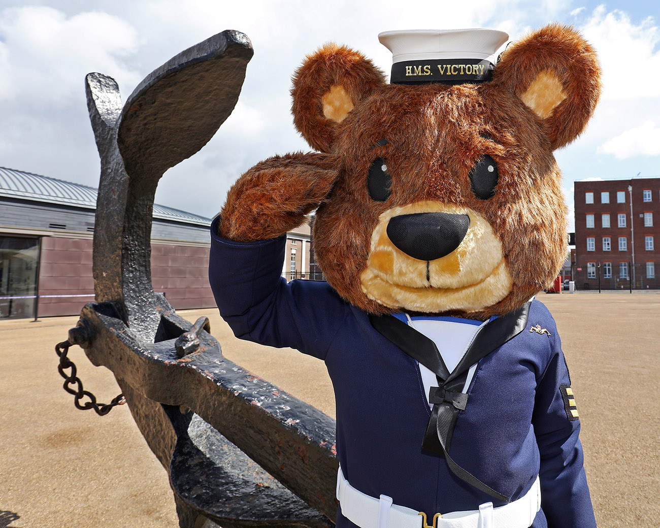 Call in the Bear Force - teddy helps promote Navy in Lincolnshire
