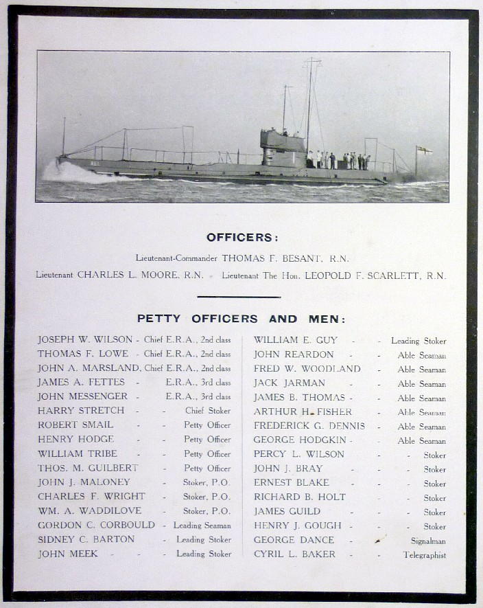 First submarine lost in WW1 remembered by Australian Navy