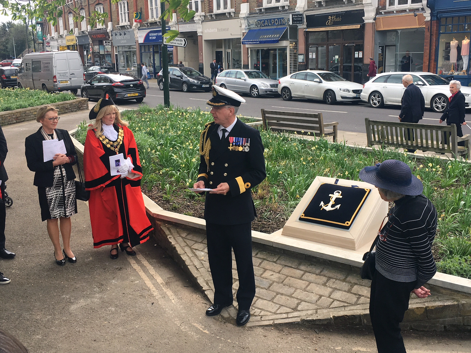 Zeebrugge heroes honoured with ceremonial paving stones in the capital