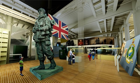 Artist's impression of future Royal Marines Museum