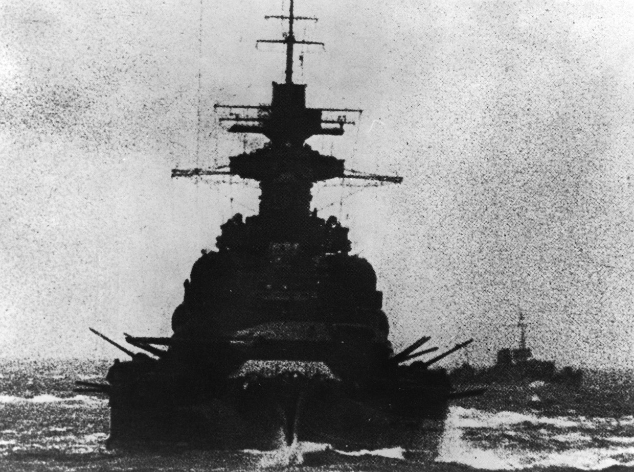 A grainy image of the Scharnhorst making the Channel Dash