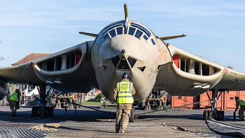 Personnel from JARTS removed the Victor gate guardian at RAF Marham