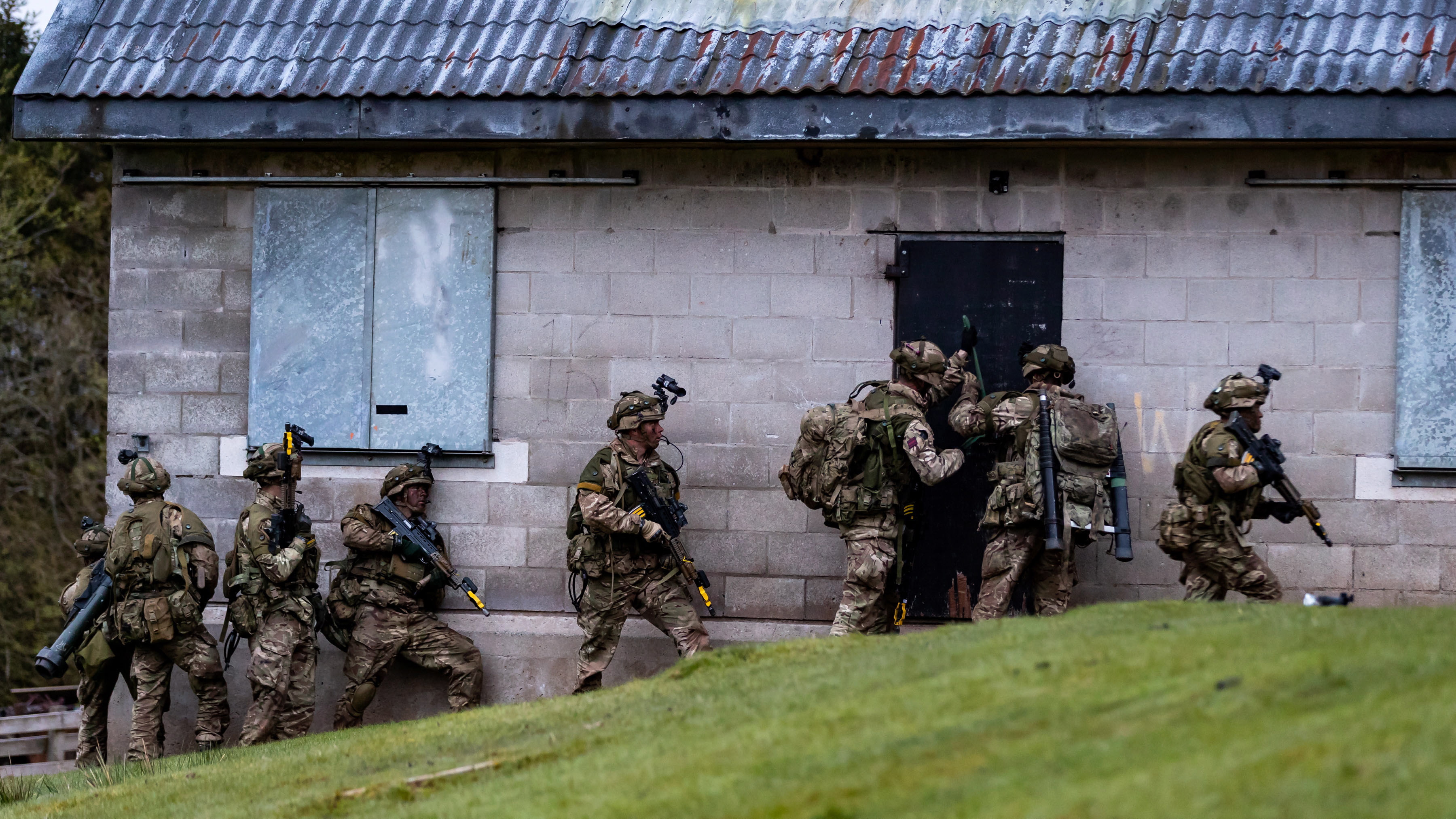 Royal Marines from 40 Commando taking part in Exercise Joint Warrior 2018