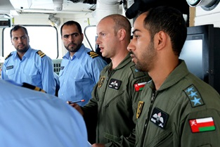 Navy exchange pilot works with former colleagues in Oman