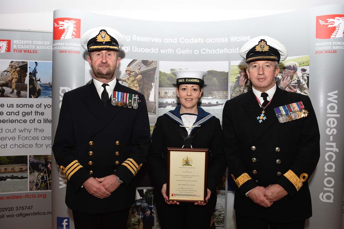 Hms Cambria Nurse Wins Award Royal Navy