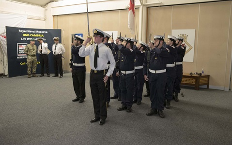 Royal Navy Reserves proud to march through Swansea City