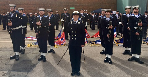 Reservists remember centenary of Chatham dockyard tragedy