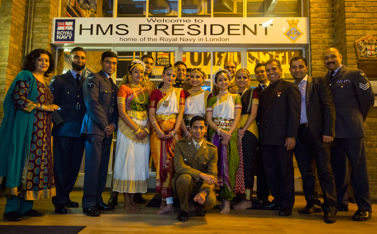HMS President hosts Armed Forces Diwali festival
