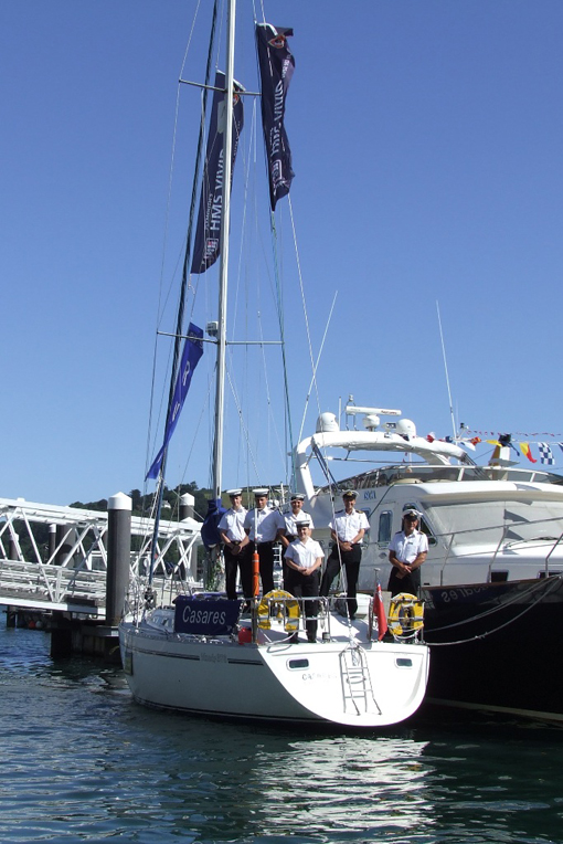 HMS Vivid fly the flag at south coast events