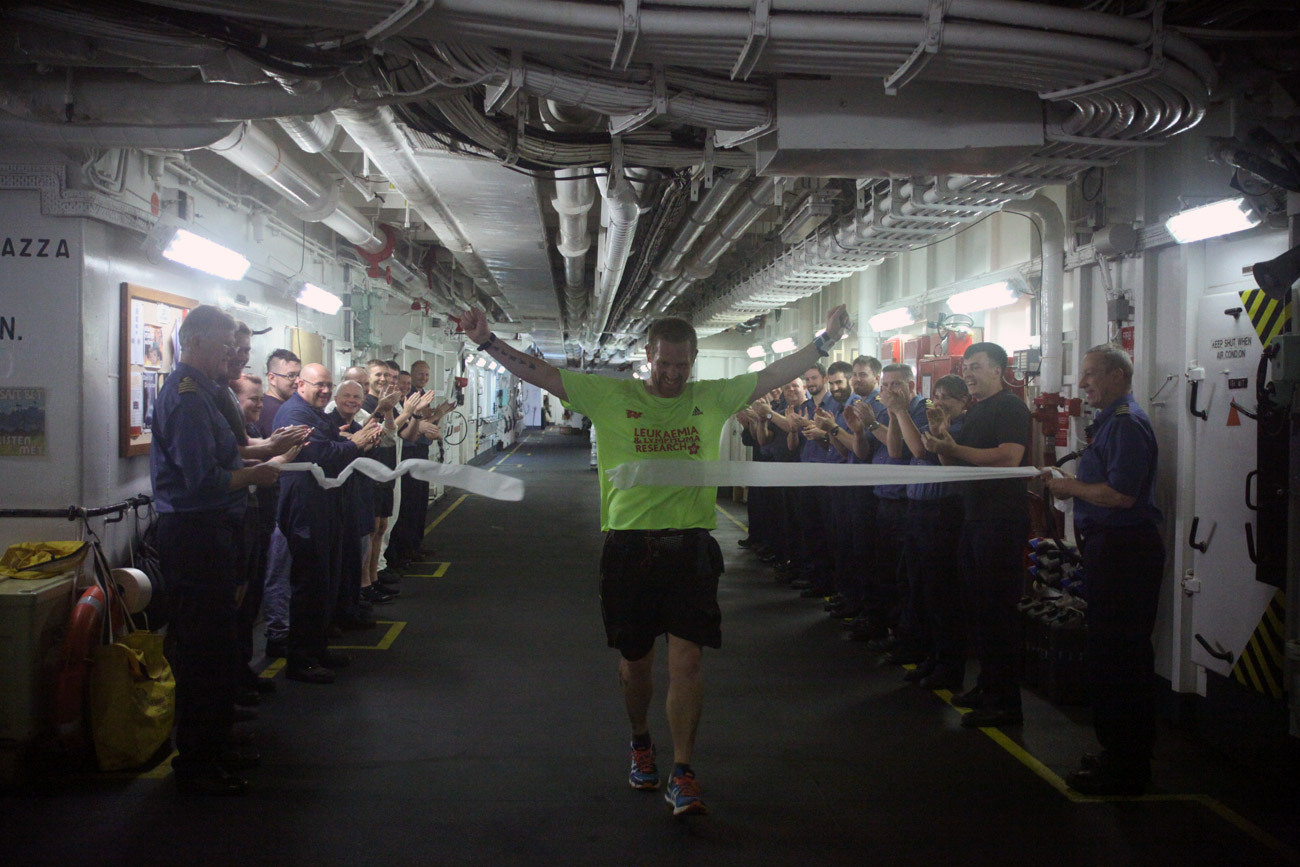 Leading Engineering Technician all at sea running London Marathon
