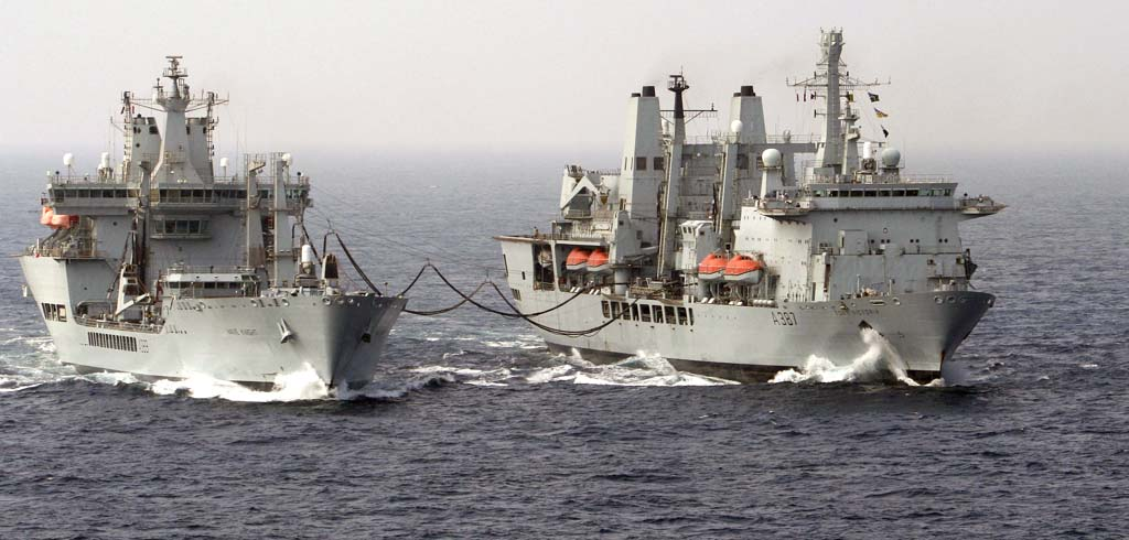 RFA Fort Rosalie and Wave Knight