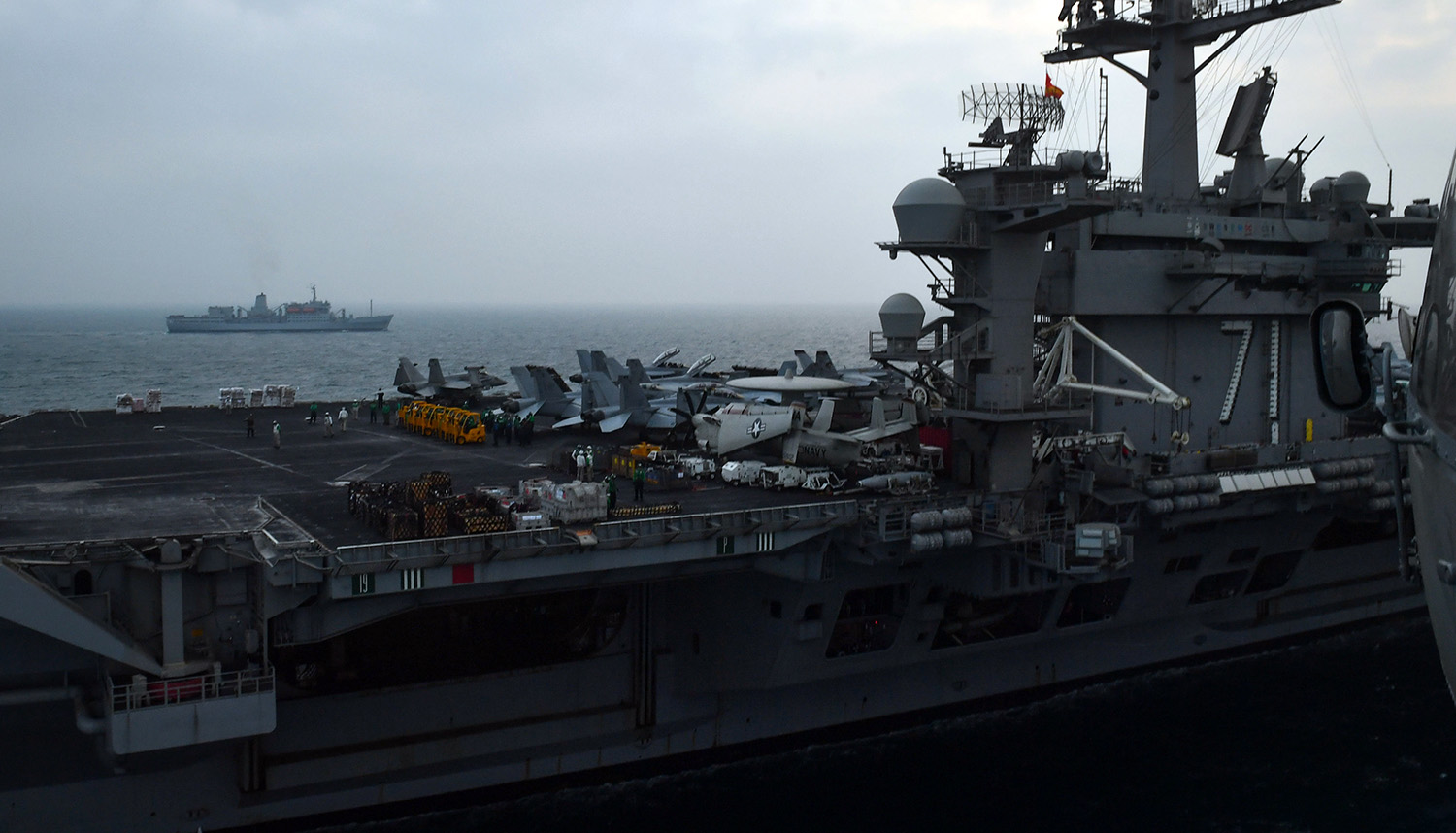 RFA Fort Rosalie completes work with US carrier strike group
