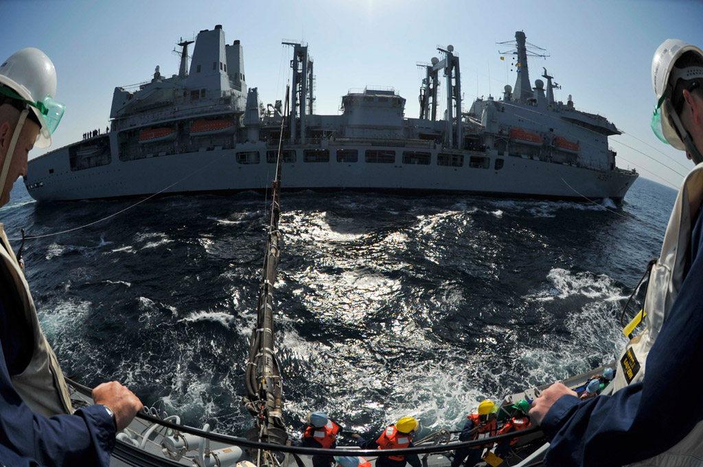 Different ship, different year as RFA Fort Victoria takes over support mission in the Middle East