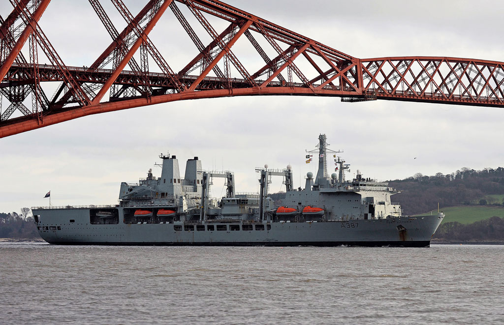 Pirate-busting RFA Fort Victoria returns home from marathon deployment