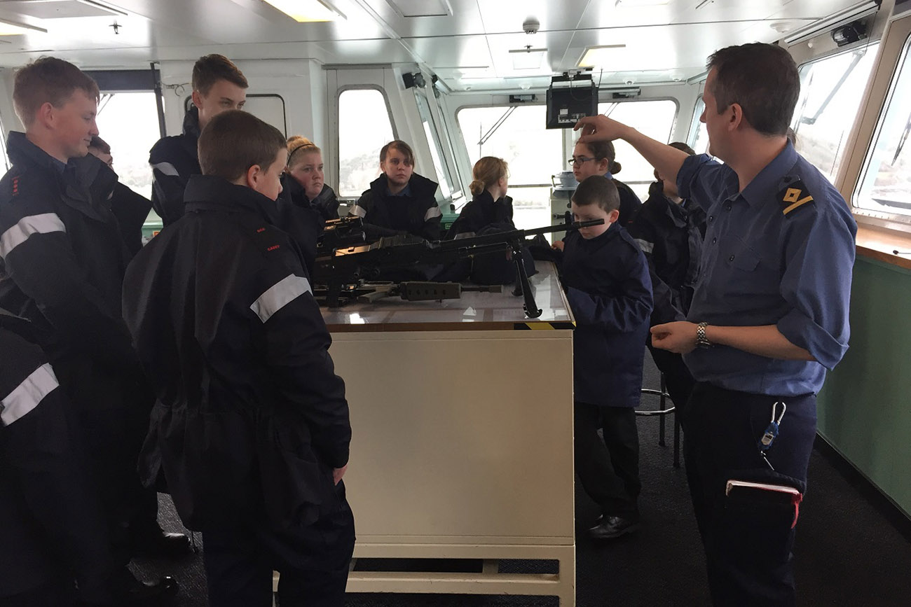 Falmouth and Penryn Sea Cadets visit RFA Mounts Bay
