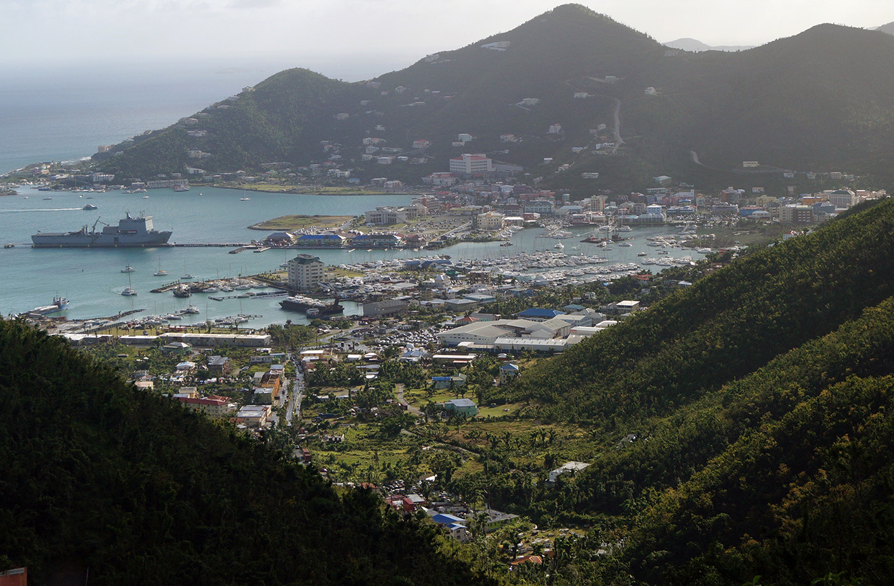 180116 RFA Mounts Bay returns to the British Virgin Islands
