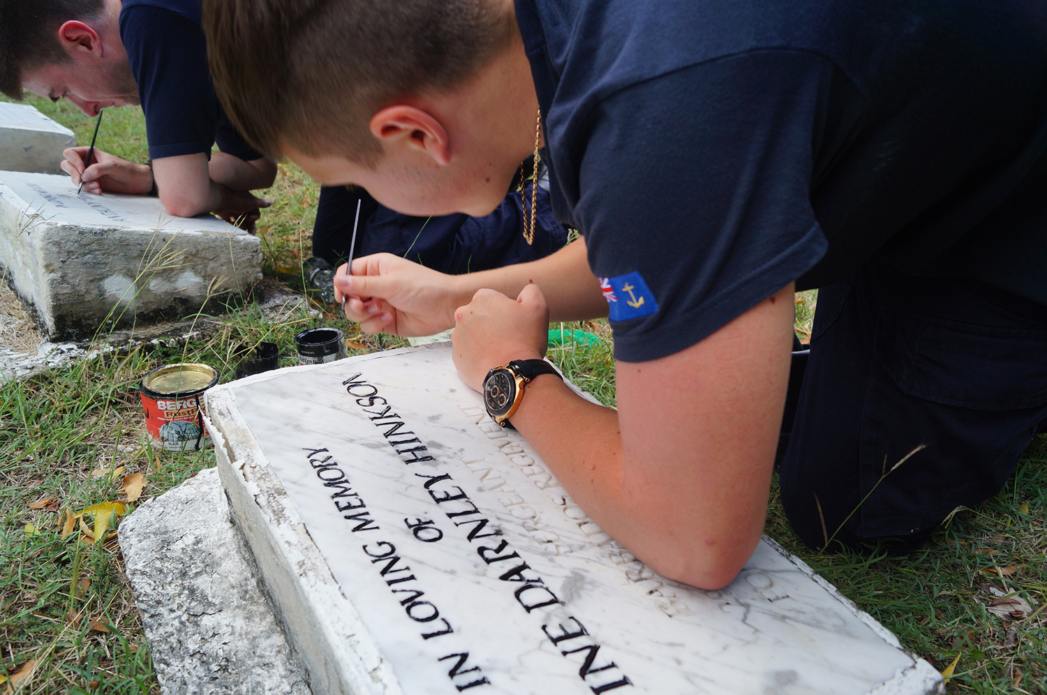 Naval Service personnel honour Royal Navy's fallen in Barbados