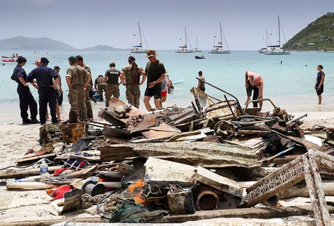 Mounts Bay chips in on Tortola to clear debris from last year's storms