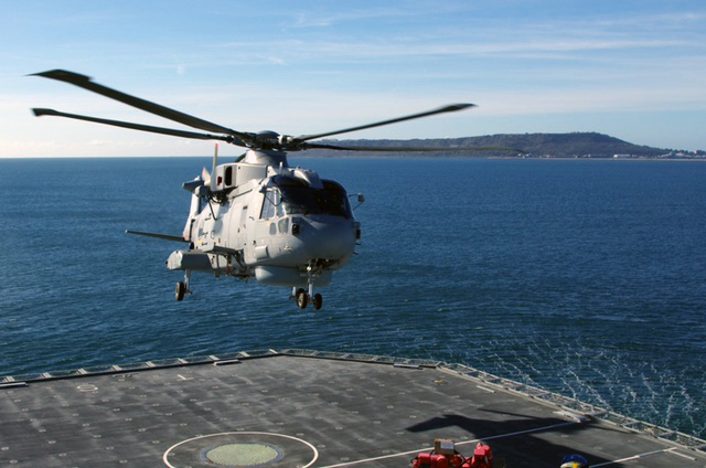 First helicopter deck landing for RFA Tidespring