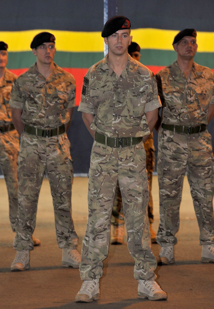 The Band of Her Majesty's Royal Marines from Commando Training Centre Lympstone as they receive their Afghanistan Campaign Medals. The Medals were awarded for their recent 6 month deployment on Operation Herrick 14.