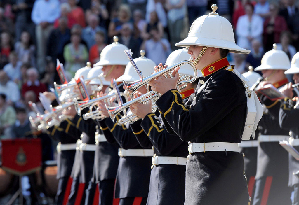 Royal Marines School of Music performance in Portsmouth