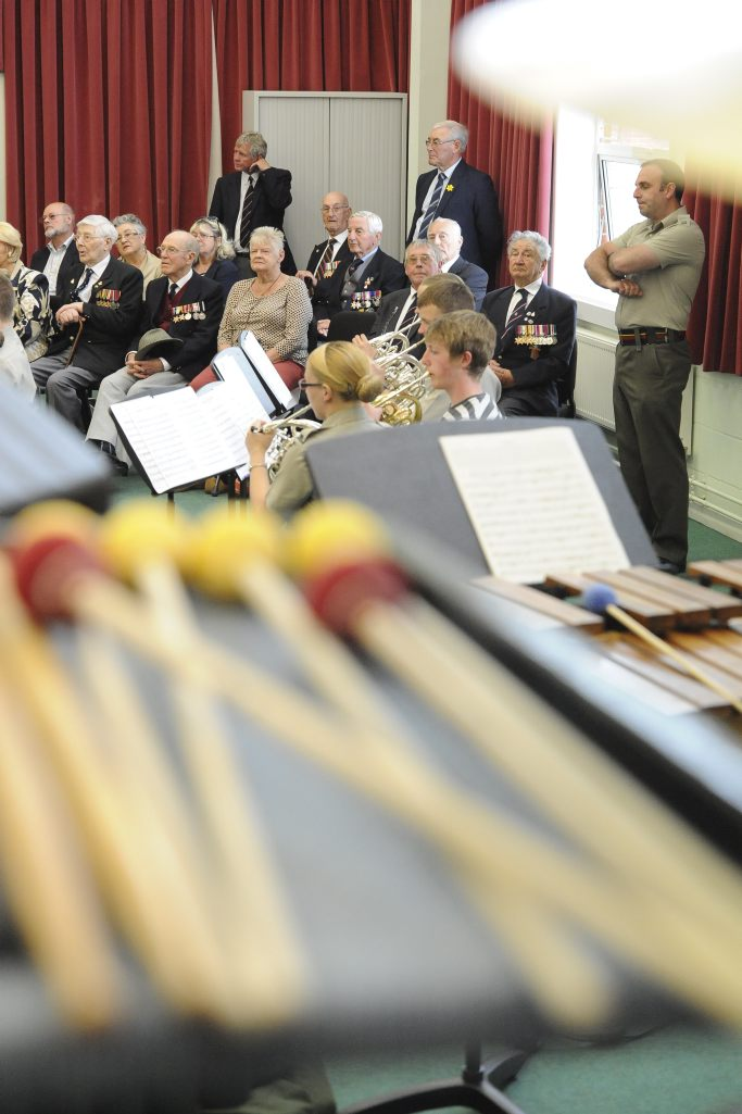 Veterans tune in to music composed in their honour