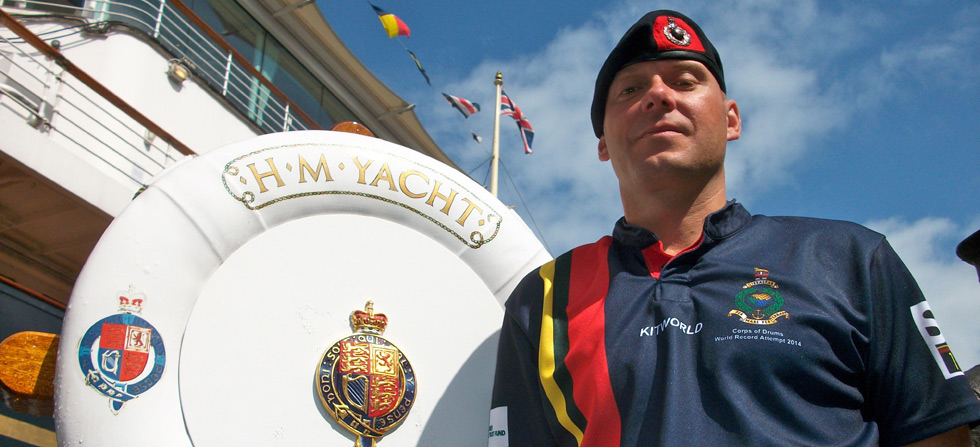 Royal Marine's world record bid for Longest Solo Drum Roll