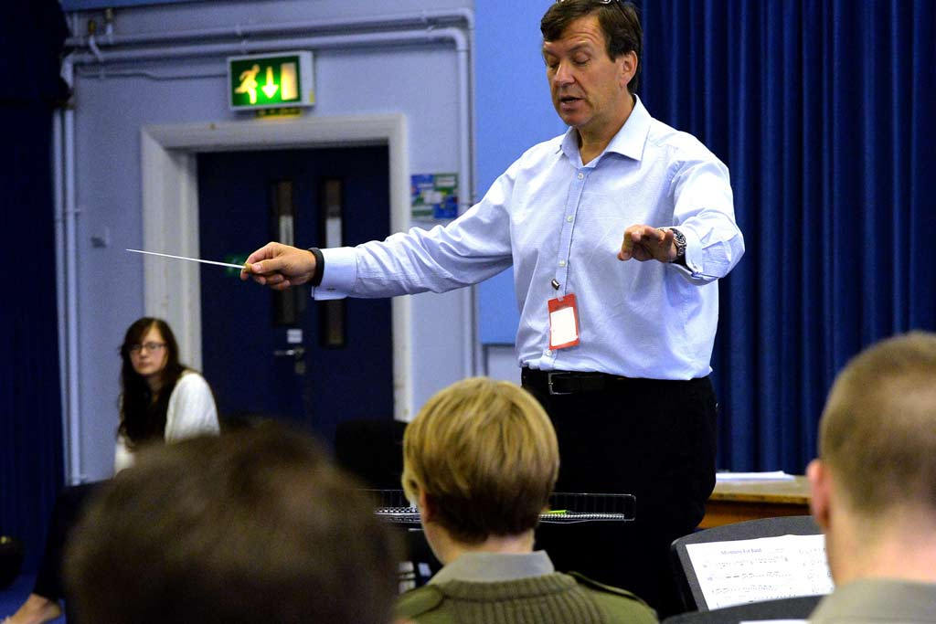 Music maestro puts Royal Marines to the test