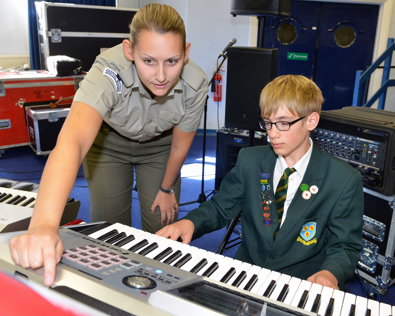 Schoolchildren rub shoulders with world-class military musicians