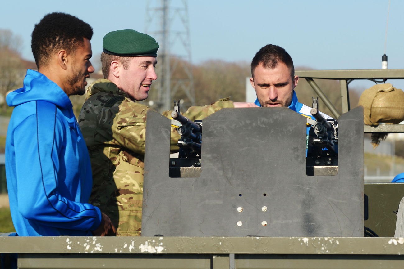 Royal Marines host Plymouth Argyle footballers