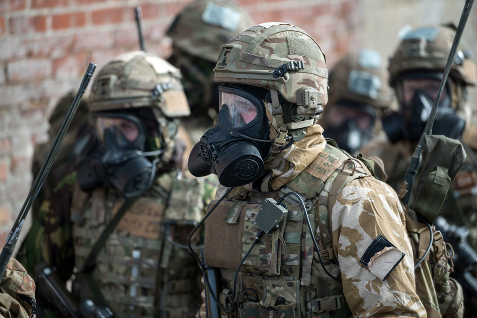 Toxic storm for Royal Marines in major chemical exercise