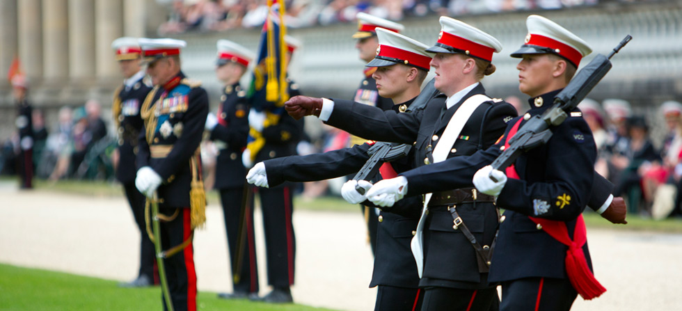 Royal inspection for Royal Marines Cadets