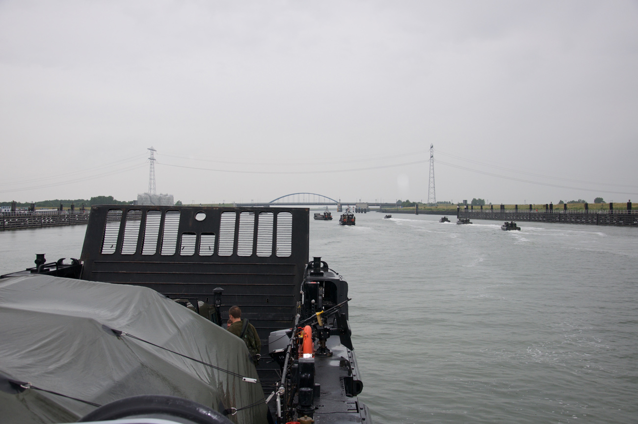 Plymouth marines river training in the heartlands of Holland