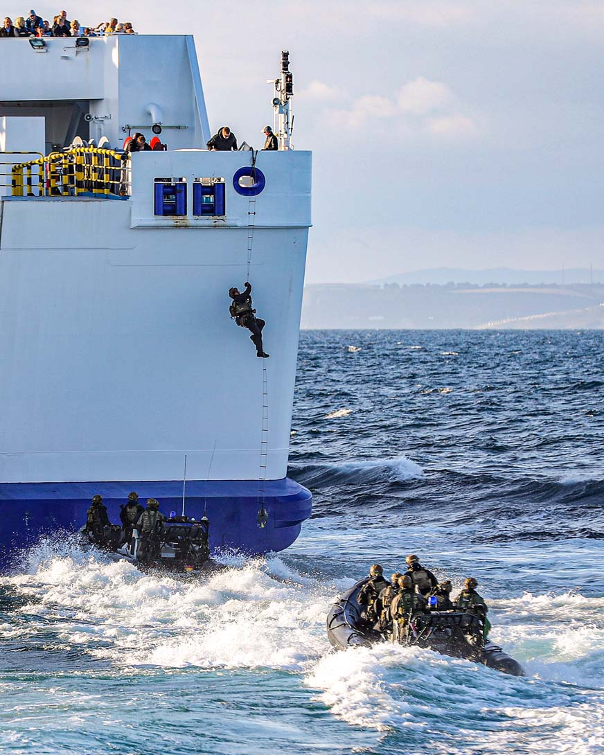 Image result for royal marines board ferry