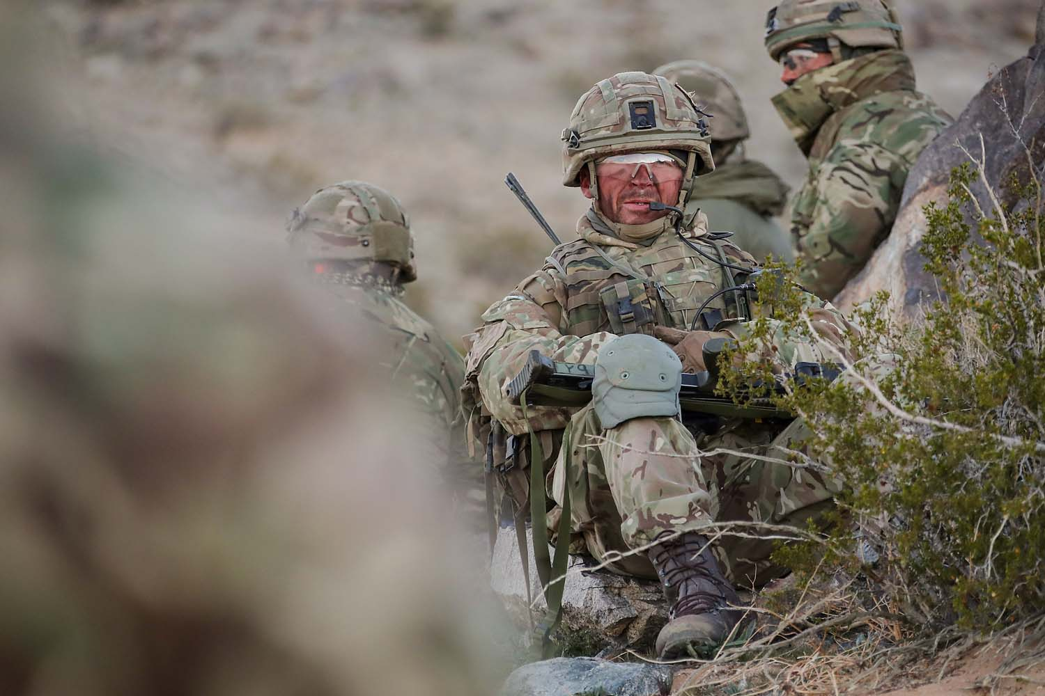 Royal Marines on exercise with their American counterparts