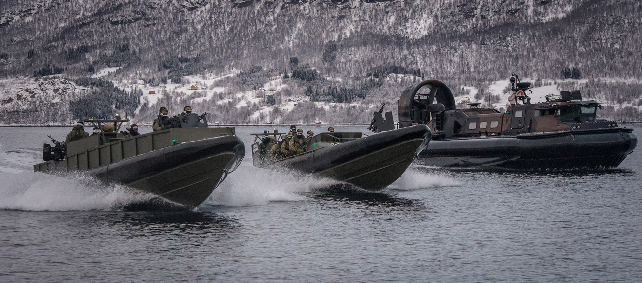 539 Assault Squadron Royal Marines prepare for cold weather training in Norway