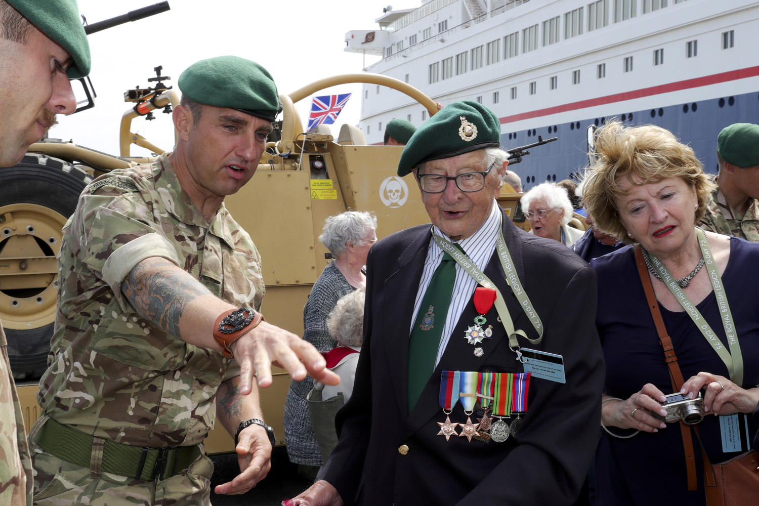 Royal Marines mark D-Day with emotional meeting with veterans